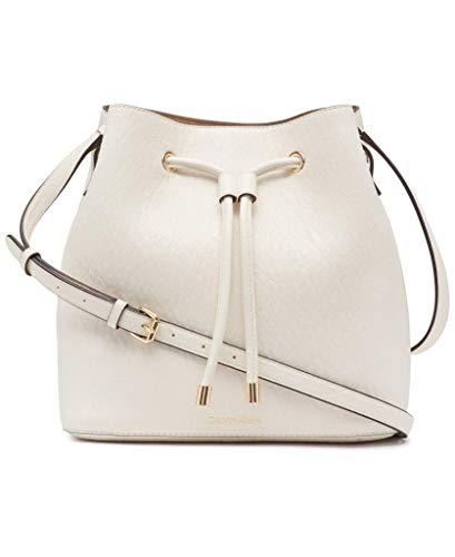 Calvin Klein Gabrianna Novelty Bucket Shoulder Bag, White