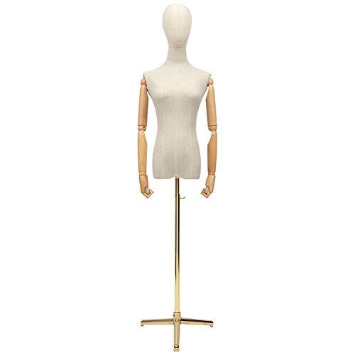 Maniquíes Femenino De Sastre Maniquí Busto Desmontable Regulable En Altura Adecuado For Ropa Vestido Soporte De Exhibición (Color : B, Size : Large)