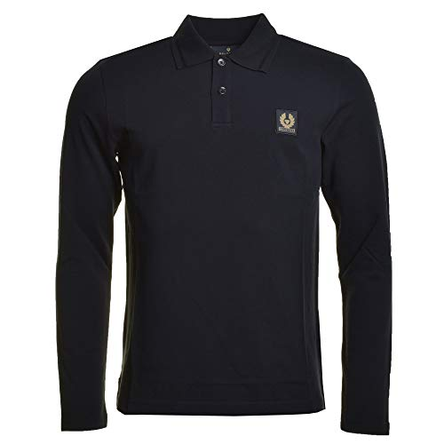 Belstaff Langarm Poloshirt schwarz Medium