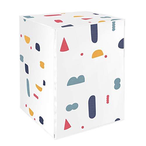 VOSAREA Funda de protección para lavadora Carga Delantera Lavadora Secadora Impermeable (Diseño Geométrico)