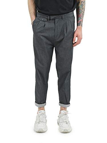 OFFICINA 36 Pantalone Doppia Pence Tasca America Art. 2528P Mantua (48, Blu)
