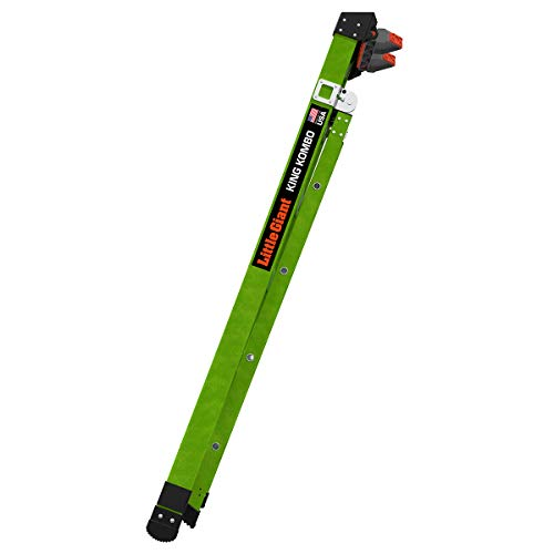Little Giant Ladders, King Kombo, Professional, 6 Ft. A Frame, 10 Ft. Extension, Single Hinge, Fiberglass, Type 1AA, 375 lbs Weight Rating, (13906-001)