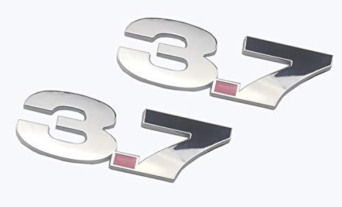 2 adesivi con stemma del parafango laterale, compatibili con Mustang.