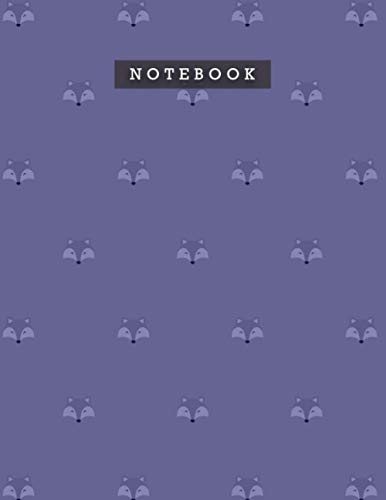 Notebook Cosmic Cobalt Color Cute Smile Foxes Patterns Cover Lined Journal: Diary, Personal, 8.5 x 11 inch, Weekly, 21.59 x 27.94 cm, Meal, Planning, A4, Do It All, 110 Pages