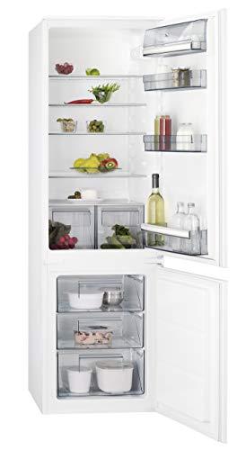 AEG SCE51821LS Einbau Kühl-Gefrier-Kombination mit Gefrierteil unten / 196 l Kühlschrank / 72 l Gefrierschrank / großer Einbaukühlschrank mit Glasablagen / LowFrost / Einbau-Höhe: 178 cm