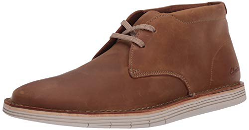 Clarks Men's Forge Stride Chukka Boot, Tan Leather, 100 M US
