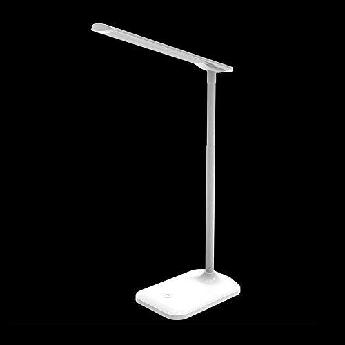 Guantes para mujer, guantes de felpa de invierno, tubo de luz blanco y negro, lámpara LED sensible, luz de escritorio con soporte para bolígrafos, portátil y compacto, regulable