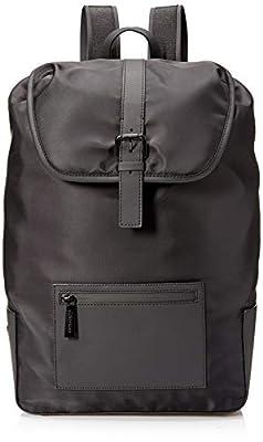 Calvin Klein Men's Nylon Flap Backpack, black, 1 SIZE