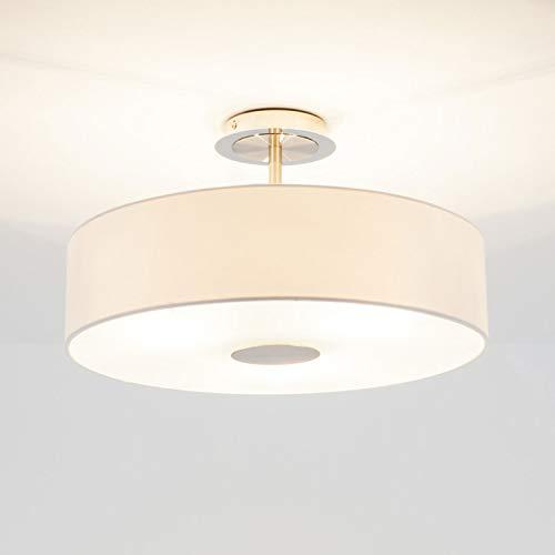 Lindby Deckenlampe 'Josia' dimmbar (Modern) in Weiß aus Textil u.a. für Flur & Treppenhaus (3 flammig, E27, A++) - Deckenleuchte, Lampe, Flurleuchte