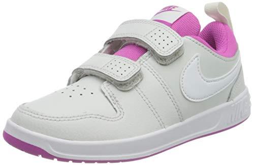 Nike Unisex-Child Pico 5 (PSV) Sneaker, Platinum Tint/White-Active Fuchsia, 34 EU