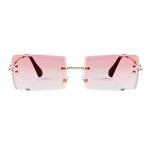 ADE WU Rectangle Sunglasses For Women,Fashion Sheer...