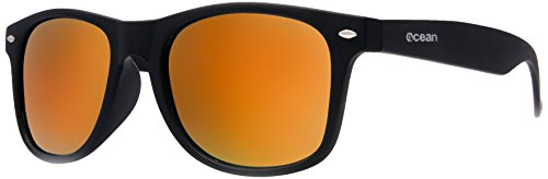 Ocean Sunglasses - Beach wayfarer - lunettes de soleil polarisées - Monture : Noir Laqué - Verres : Revo Vert (18202.5 )