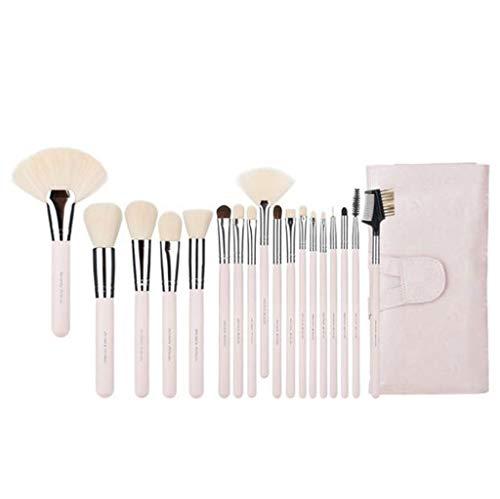 Pinceaux Maquillage Ensemble de pinceaux de maquillage professionnel 18 pièces, contour des yeux Eyeliner Eye Shadow Brush Foundation (rose/noir / champagne) (Couleur : Pink)