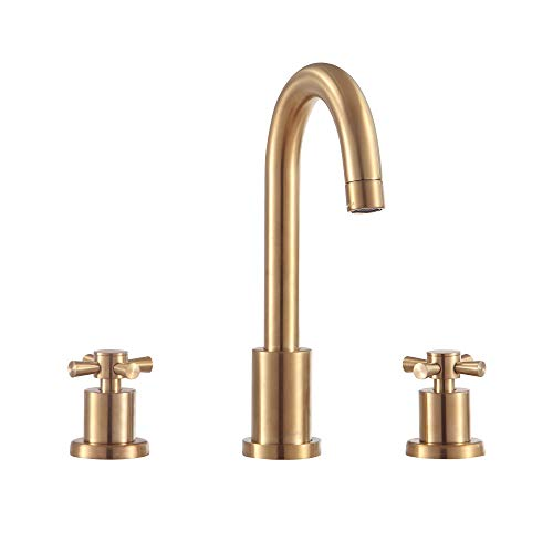 Avanity FWS17201MB Messina 8″ Widespread Bath Faucet with 2 Handle Metal Cross  Lead Free Brass Body and Ceramic Cartridge in Matte Black