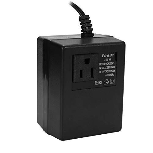 Cheniess Haushalt 300W Wechselstrom 220V-110V Step Down Transformator Reise-Netzteil Spannungswandler Inverter Wechselrichter Auto PKW