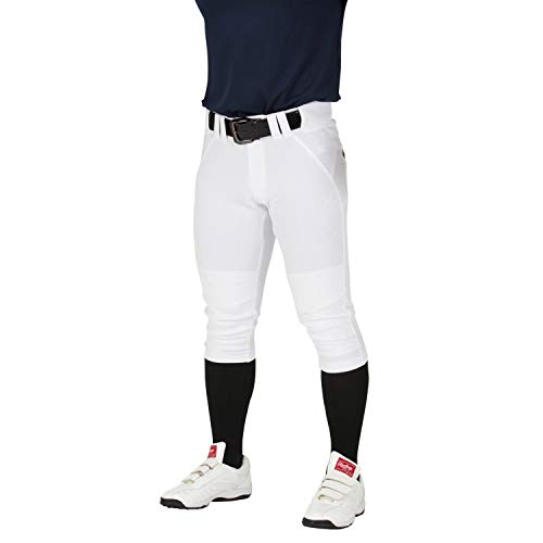 Rawlings APP9S01J 4D Ultra Hyperstretch Pants Short Fit (Juniors) Baseball Pants for Boys Kids Practice White 140cm