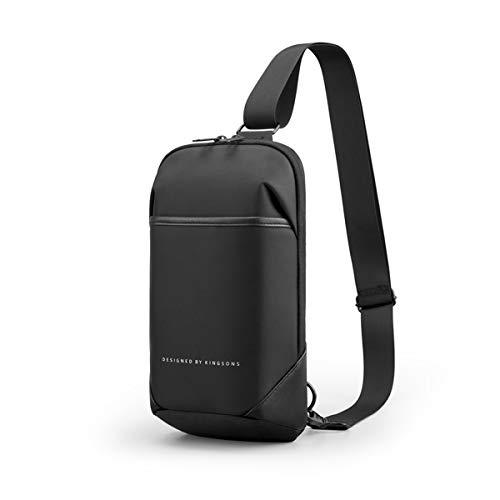 Kingsons Brusttasche herren, Schultertasche für Männer Sling mit Verstellbarem, Rucksack Multipurpose Daypack Anti-Diebstahl & Wasserresistent.