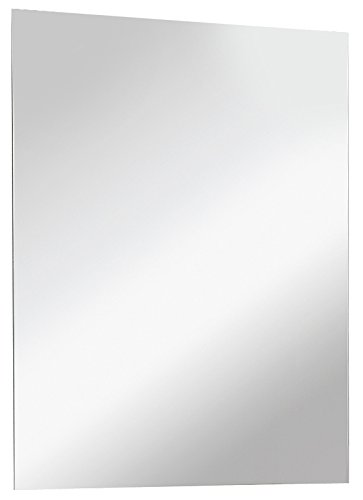 FACKELMANN Spiegel/Wandspiegel mit Befestigung/Maße (B x H x T): ca. 70 x 60 x 2 cm/hochwertiger Badspiegel/hoch und quer verwendbarer Badezimmerspiegel/Breite 70 cm