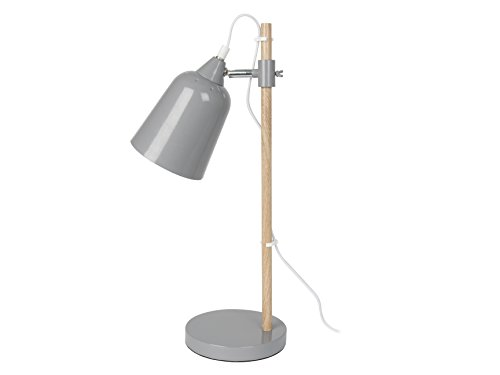 Present Time lm1236 Lampe de table Wood Like, métal, 25 W, E14, souris, 48,5 x 12 x 12 cm