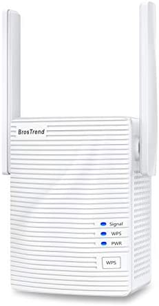 BrosTrend WiFi Extender 1200Mbps Signal Booster Range Repeater Add Coverage up to 1200 sq ft product image