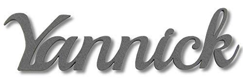 Kreativknoten Filz Namensschriftzug in tollen Farben perfekt zum Basteln und Dekorieren (grau 7cm)