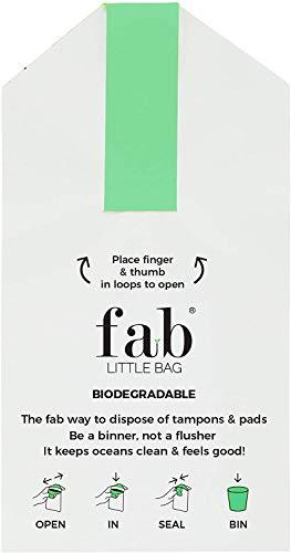 FabLittleBag Sanitärentsorgungsbeutel - 100 FabLittleBags (5 x Packungen von 20 FabLittleBags)