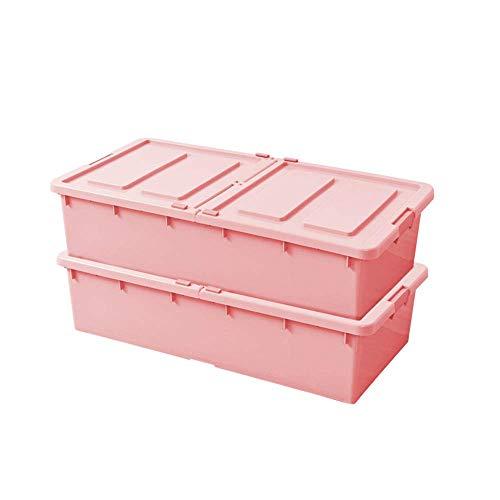 HYLH Bett Aufbewahrungsbox Wäscheschrank Finishing Box Doppeltür Aufbewahrungsbox Büro Bücher Aufbewahrungsbox Tragbare und ordentliche...