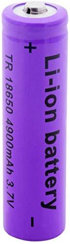 Batería Recargable Batería púrpura 3.7V 4900Mah 18650 Baterías de Litio Recargables Modelo de Aire Cámara portátil Mini batería de Ventilador