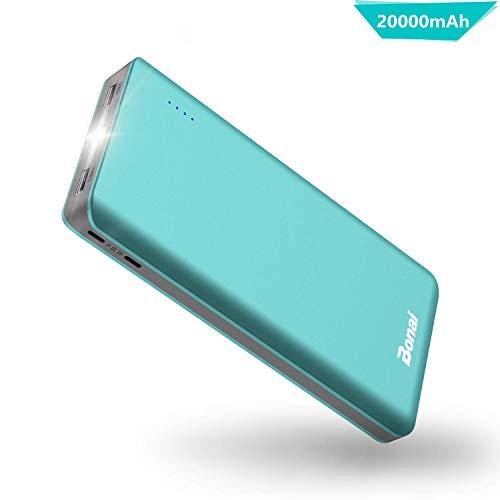 BONAI Powerbank 20000mAh [ Universale, 4.8A Output, Torcia, Auto] Caricatore Portatile Carica Batterie Portatili Cellulare Batteria Caricabatterie per