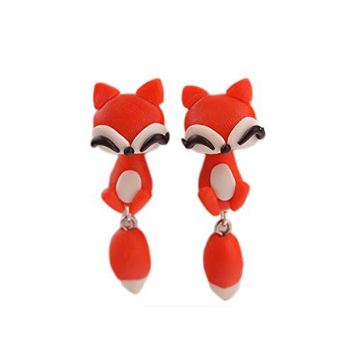 Handmade Polymer Clay Cute 3D Animal Stud Earrings Set