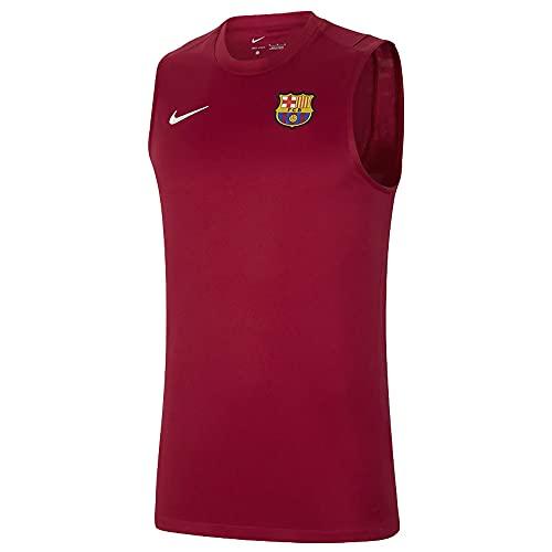 NIKE 2021-2022 Barcelona Sleeveless Top (Red)