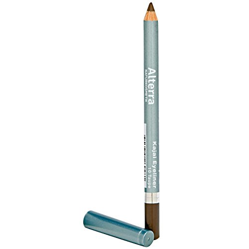 Alterra Kajal Eyeliner 1 Stück Farbe 10: Taupe, ohne synthetische Konservierungsstoffe, zertifizierte Naturkosmetik, vegan