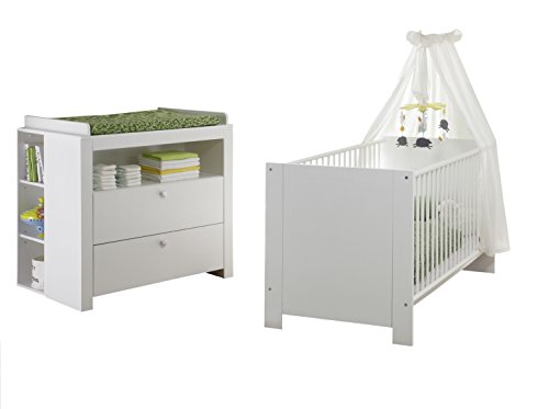 trendteam smart living Babyzimmer 4-teiliges Komplett Set Olivia in Weiß