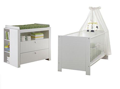 trendteam smart living Babyzimmer 4-teiliges Komplett Set Olivia in Weiß
