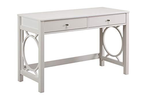 Amazon Brand – Ravenna Home Springdale Modern Home Office Writing Desk, 47'W, White