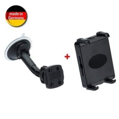 HR autohouder KIT tablet/Navi/eReader met snelsluiting voor grootte van 105-240 mm - zwart