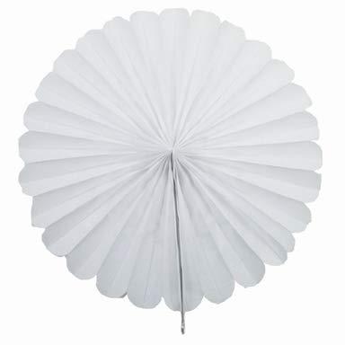 Creativery 1 Papierfächer 35cm (weiß 029) / Deko Papier Fächer Rosetten Blumen Raumdeko Papierrosetten Hängedeko