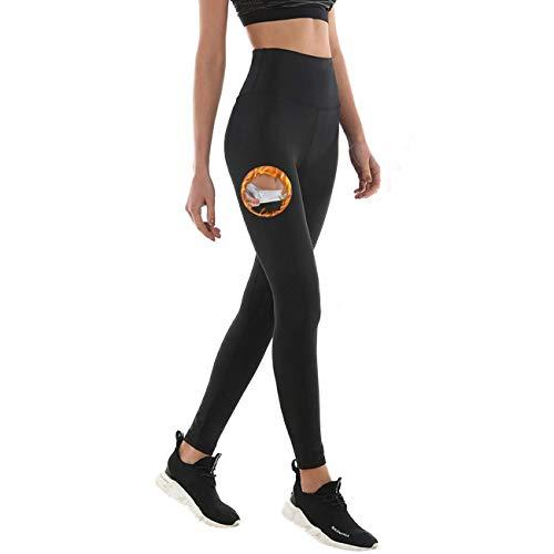 NHEIMA Leggings Dimagrante Donna Fitness, Pantaloni Sportivi Vita Alta, Leggings Anticellulite in NANOTECHNOLOGIE per Sudorazione - Effetto Snellente, Contenitivo, Push Up -Palestra/Yoga/Running (M)