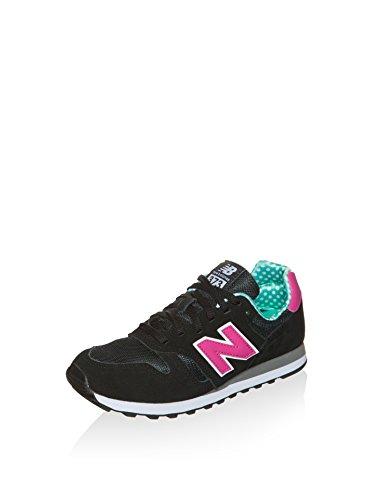 New Balance Mädchen Wl373 Sneaker, schwarz/rosa, 35 EU