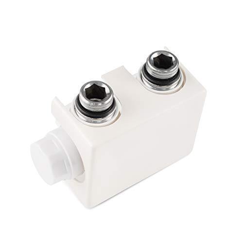 Vilstein radiatoraansluiting, multiblok voor badkamerradiator, universeel, middenaansluiting, wit