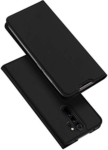 DUX DUCIS Hülle für Redmi Note 8 Pro, Leder Klappbar Handyhülle Schutzhülle Tasche Hülle mit [Kartenfach] [Standfunktion] [Magnetisch] für Xiaomi Redmi Note 8 Pro (Schwarz)