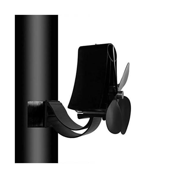 Faviye Ventilador para Chimenea de Pared 4 Ventilador magnético de Alta Temperatura para Horno de leña Ventilador de…