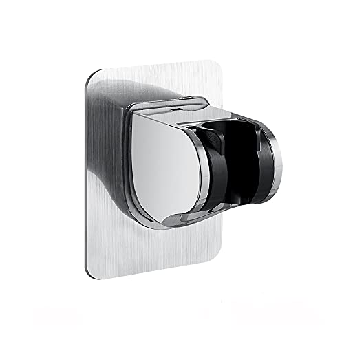 Duschkopfhalter Handbrause Halterung Ohne Bohren 3M Kleber Winkel Verstellbar Brausehalter Duschhalterung, duschbrause halterung,duschkopf halterungen Duschkopf-Clip Basis für Duschkopf (a)