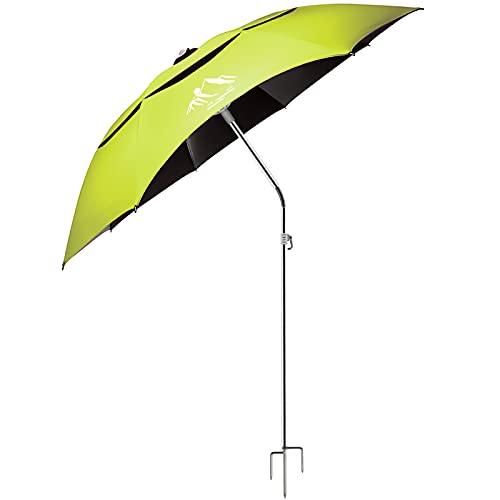 Tragbarer Sonnenschirm Außenschirm mit Teleskopstange, winddichtem Einsatz und Tragetasche - UV-Schutz,360 ° drehbar,für Strand,Terrasse,Pool,Terrasse,Park