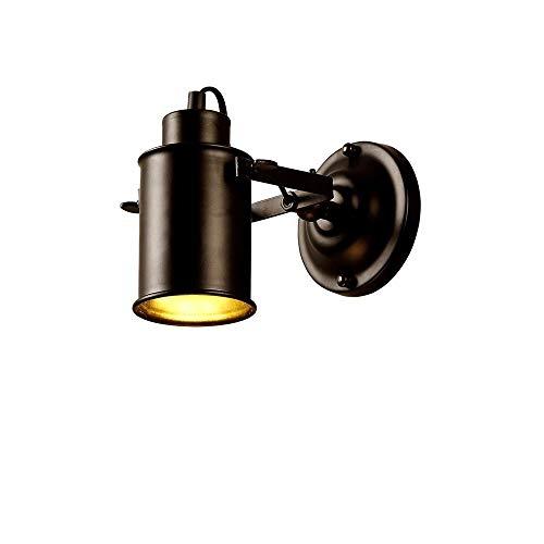 E27 Vintage Negro Lámpara de pared pequeña Barra industrial Focos pequeños Apliques de luz de pared para loft para dormitorio Sala de estar Restaurante Caf & eacute;Galería de pasillo Accesorio de il