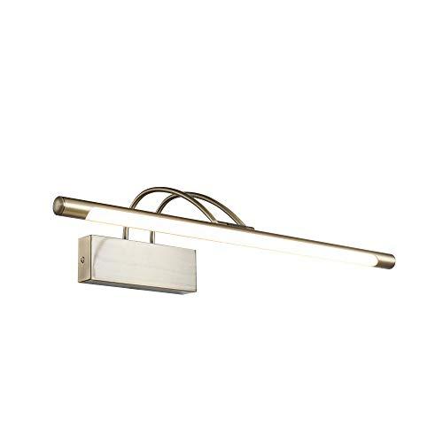 Moderne hochwertige LED-Bilderleuchte Spiegelleuchte Make-up Licht Spiegellampe Farbe Bronze Metallrahmen Winkel 120° einstellbar für Wohnzimmer Schlafzimmer Badezimmer inkl.1x LED 800 Lm 3000K IP20