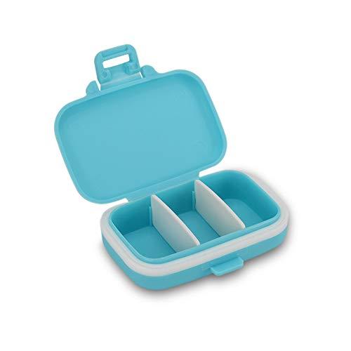 Benkeg Boîte de Rangement - Boîte de Rangement Transparente À Trois Fentes pour Tatouage Accessoires de Tatouage Amovibles Etui de Rangement Polyvalent Bleu