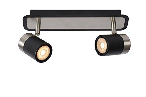 Lucide LENNERT - Spot plafond - LED Dim. - GU10 - 2x5W 3000K - Noir