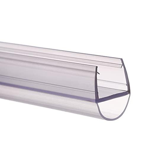 goma Mampara Ducha, 50 cm de forma de tiras de sellado de puerta de vidrio de silicona para evitar fugas de ducha, sello flexible resistente a la intemperie para baño (6 mm, B)