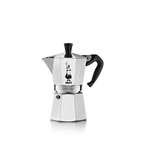 Bialetti Moka Kaffeemaschine mit Band, Aluminium, Silber, 6 Tassen